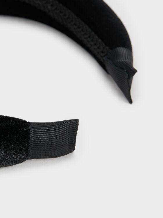 Wide Plain Headband, Black, hi-res