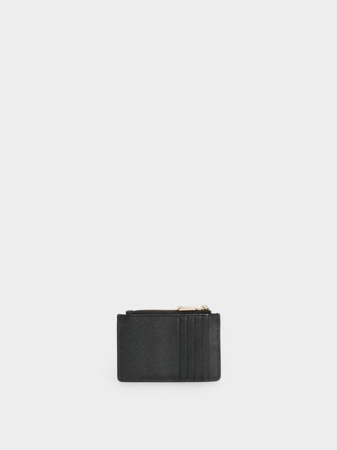 Porte-Cartes Uni, Noir, hi-res