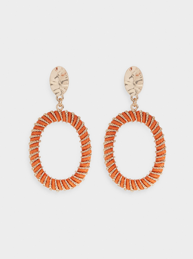 Intertwining Earrings, Multicolor, hi-res