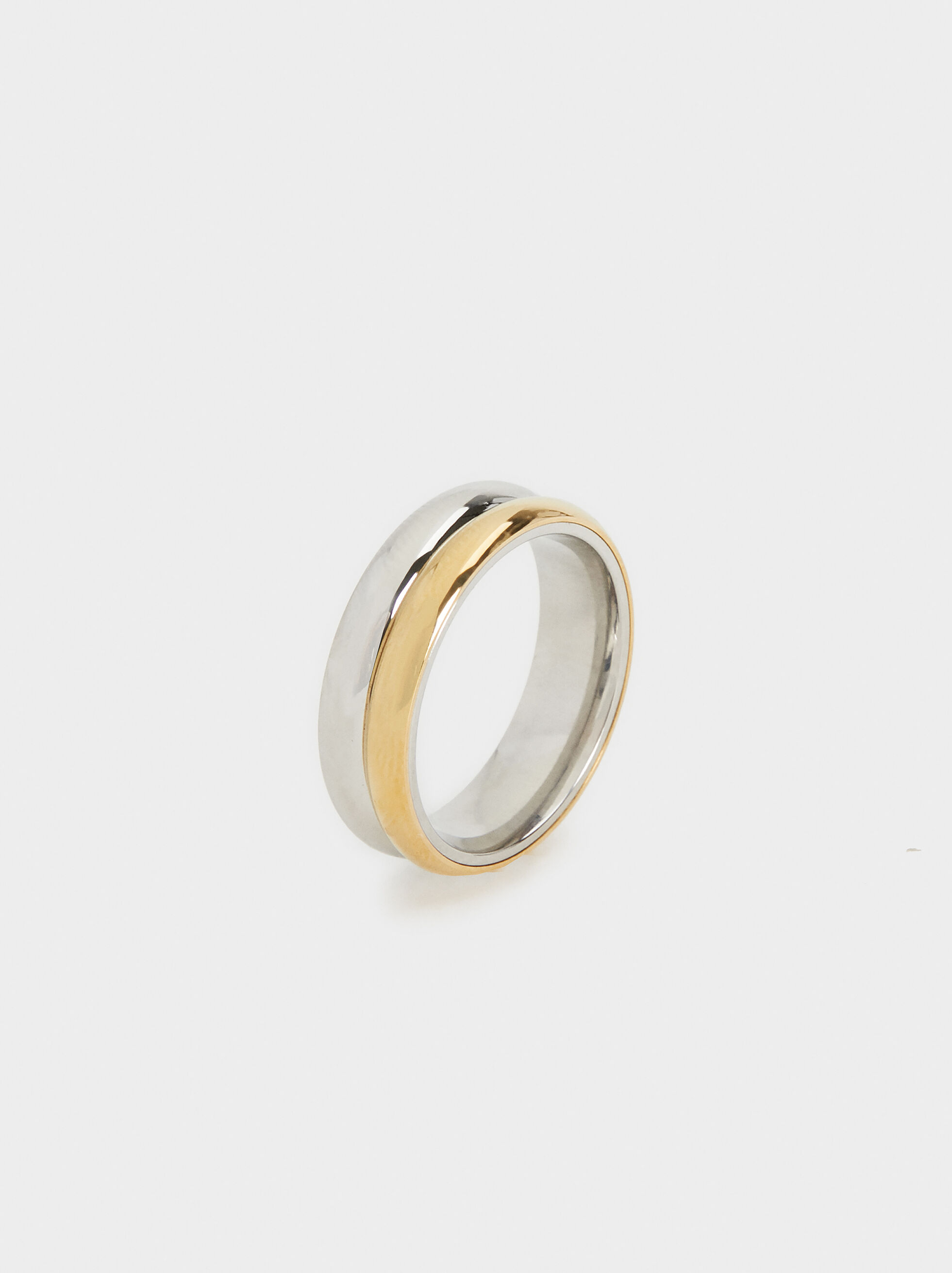Two-Tone Steel Ring, , hi-res