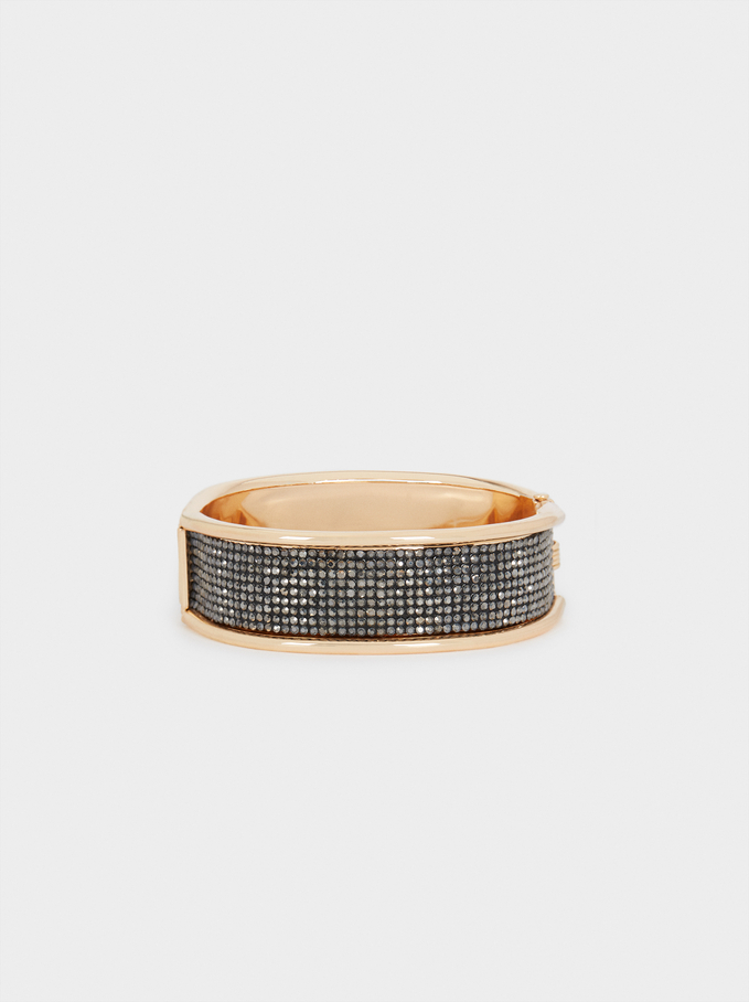 Rigid Sparkly Bracelet, Multicolor, hi-res