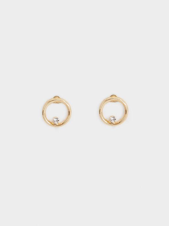 Golden Delicates Short Earrings, , hi-res