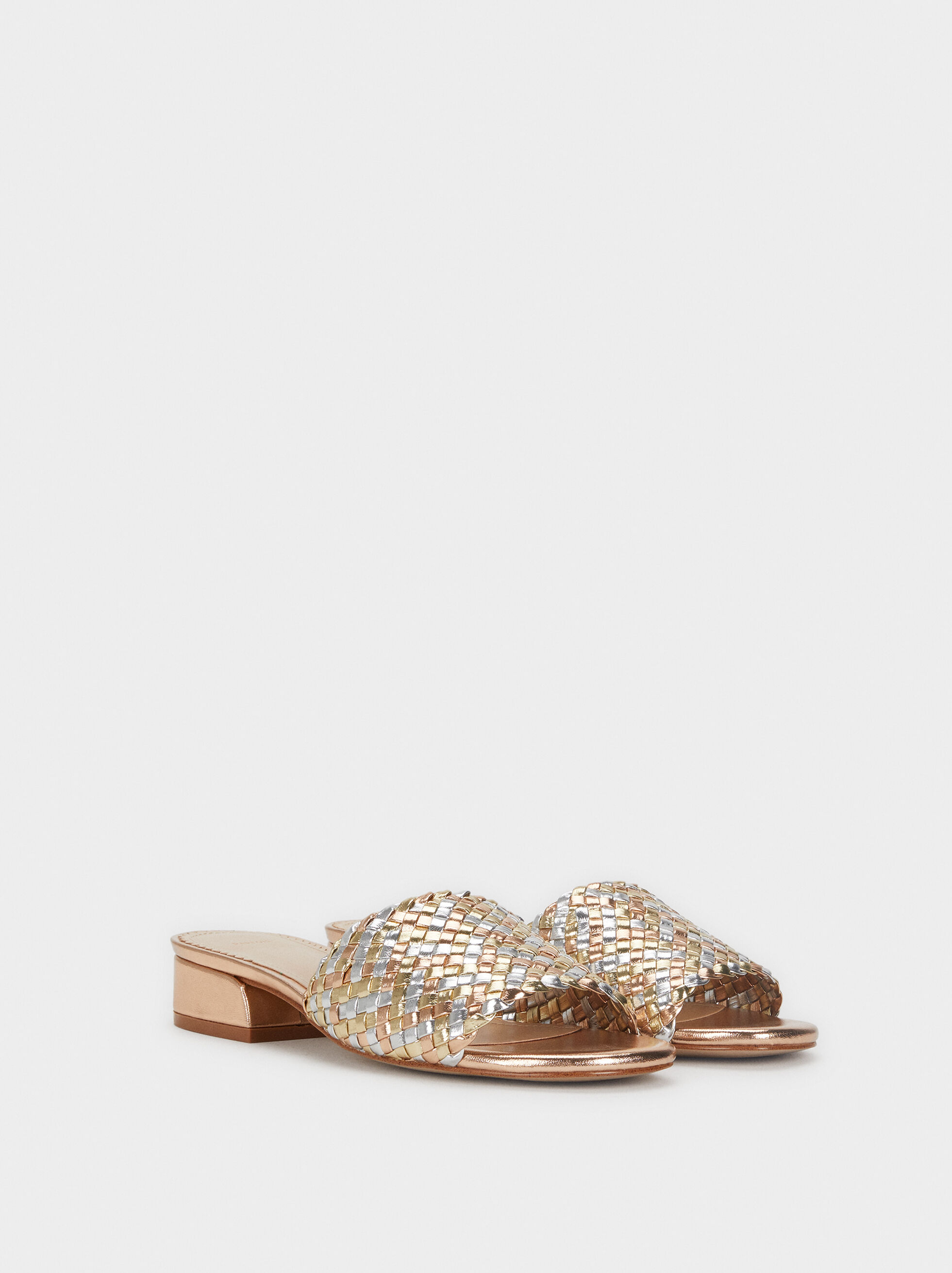 Flat Braided Sandals, Multicolor, hi-res