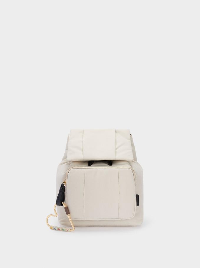 Two-Way Nylon Backpack, Ecru, hi-res