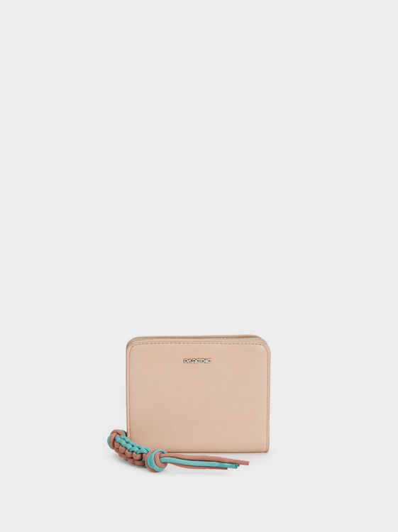 Faux Leather Purse, Pink, hi-res