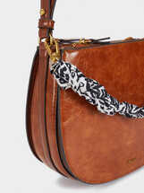 Crossbody Backpack With Zipped Fastening , Camel, hi-res