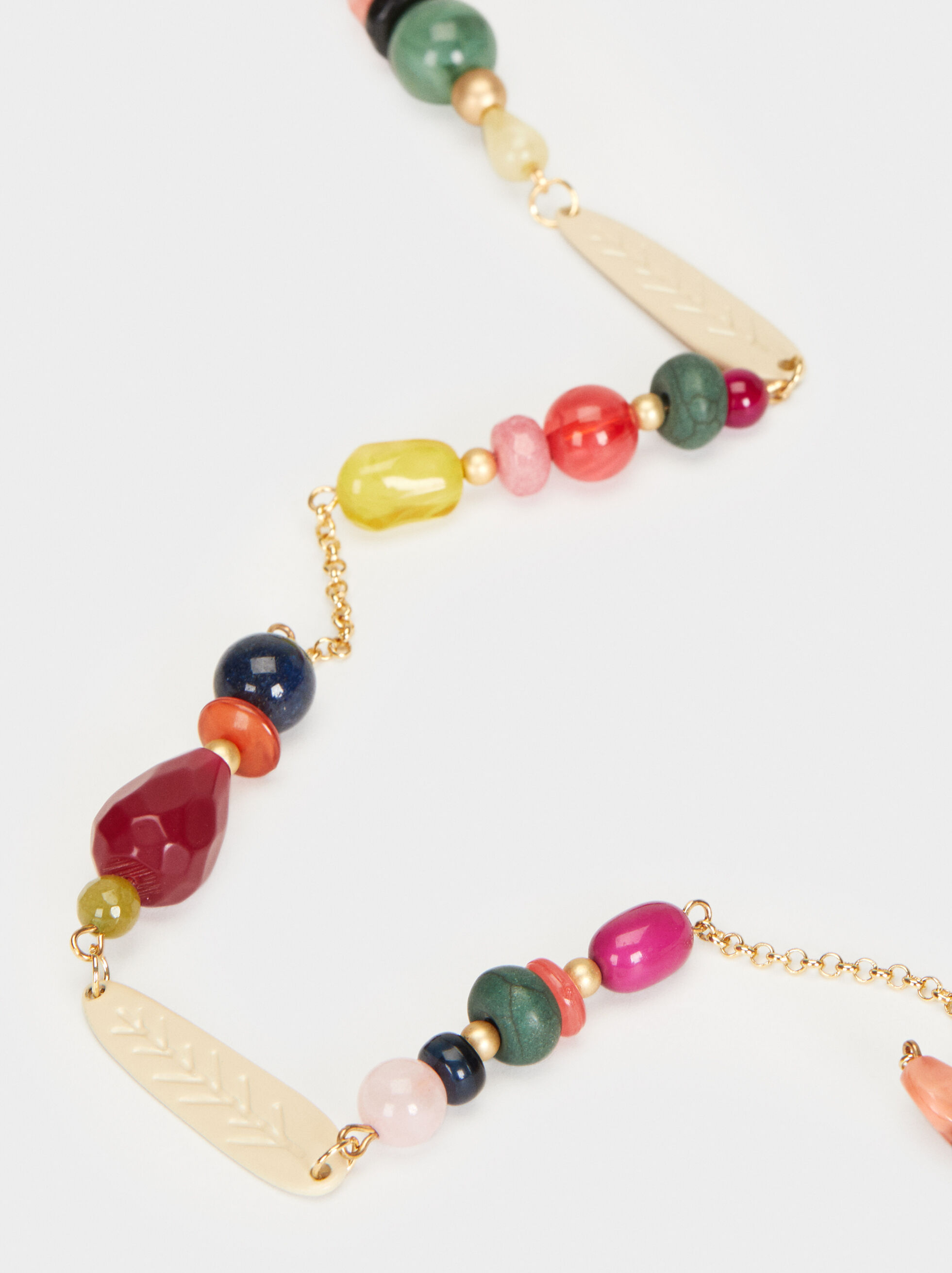 Wild Color Long Beaded Necklace, Multicolor, hi-res