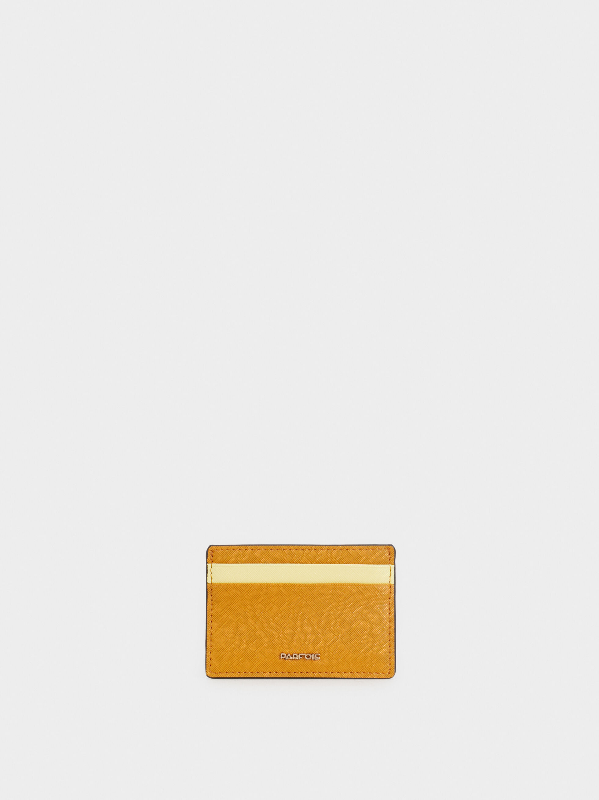 Two-Tone Card Holder, Mustard, hi-res