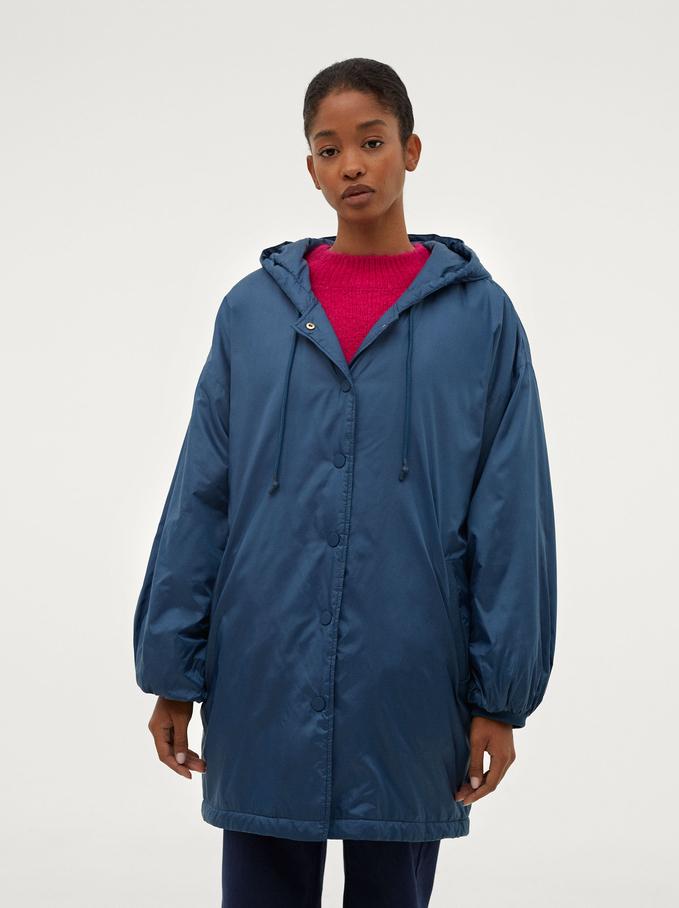 Waterproof Jacket With Hood, Blue, hi-res