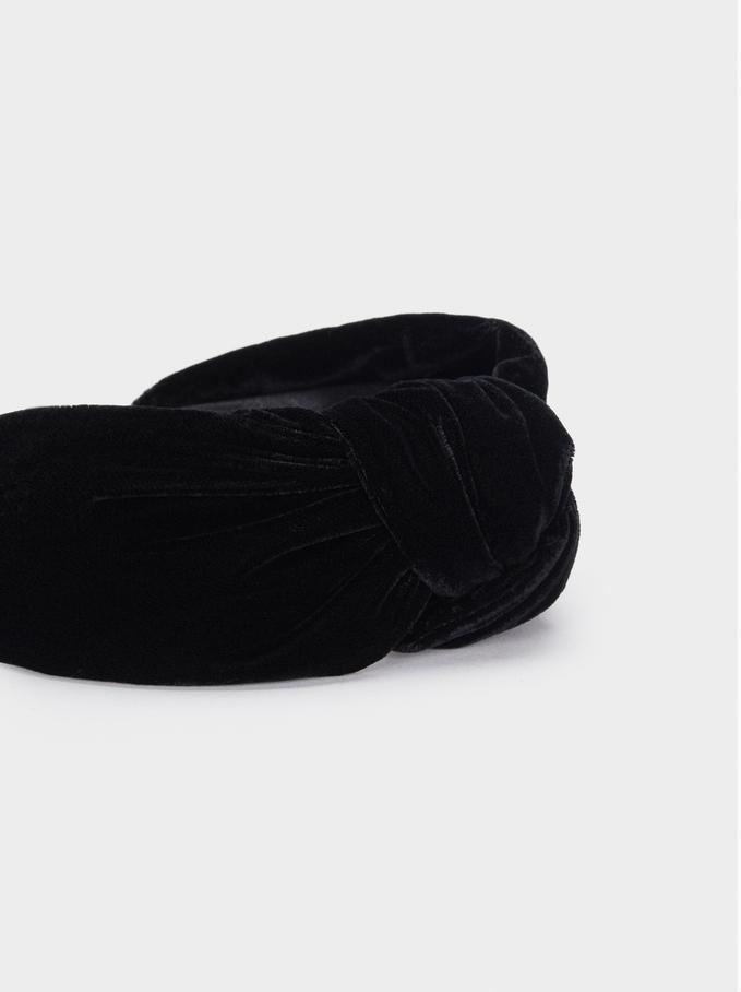 Turban-Style Headband , Black, hi-res
