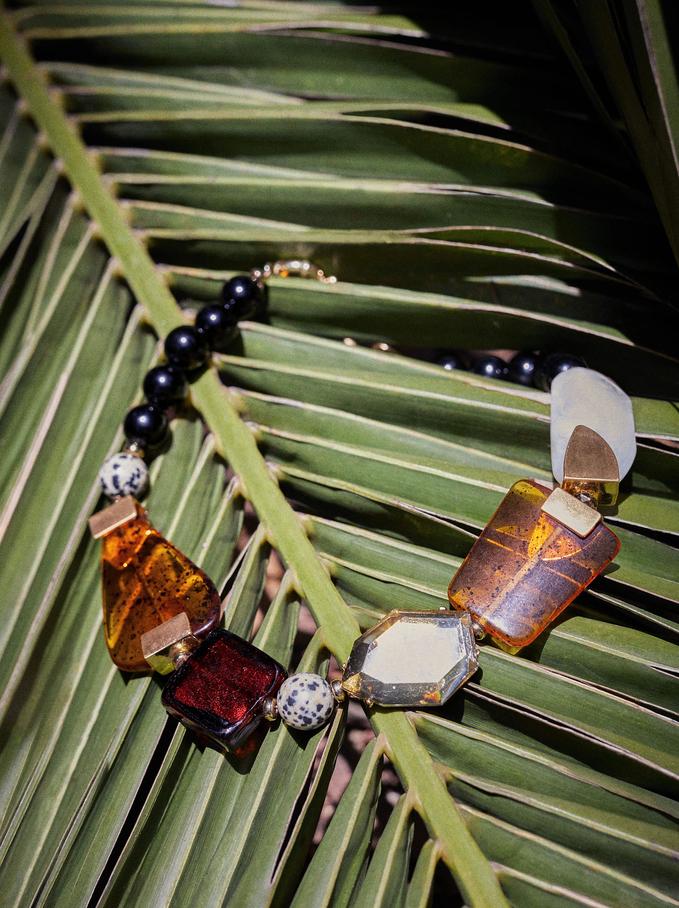 Short Necklace With Stones, Multicolor, hi-res