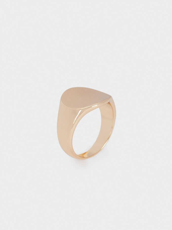 Pinky Finger Signet Ring, Golden, hi-res