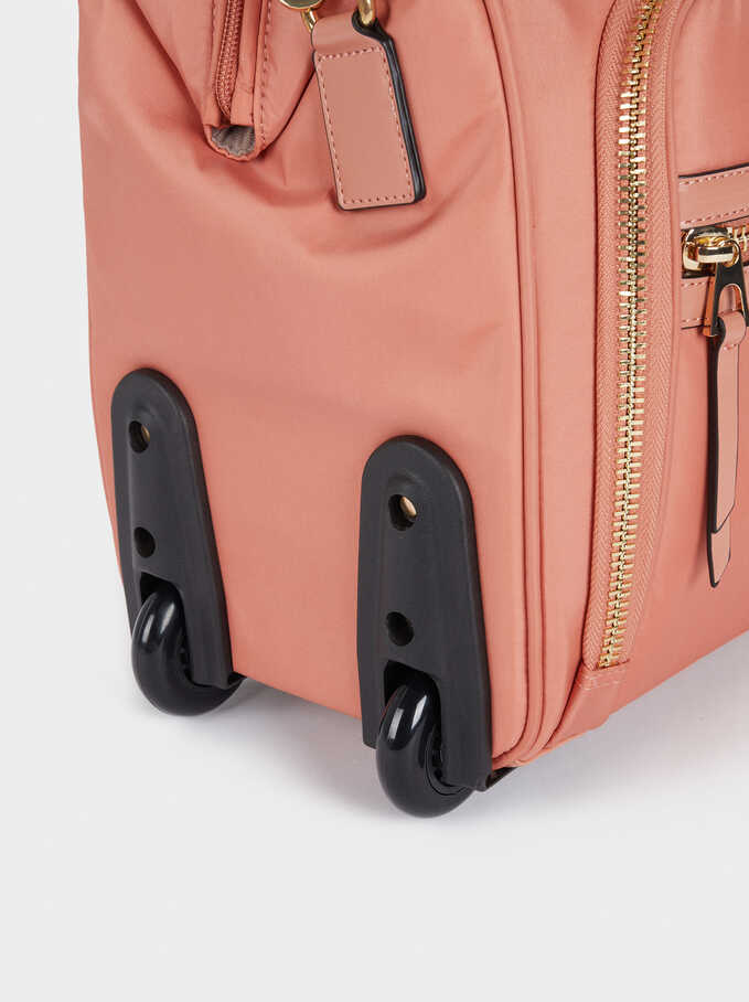 Nylon Suitcase, Coral, hi-res