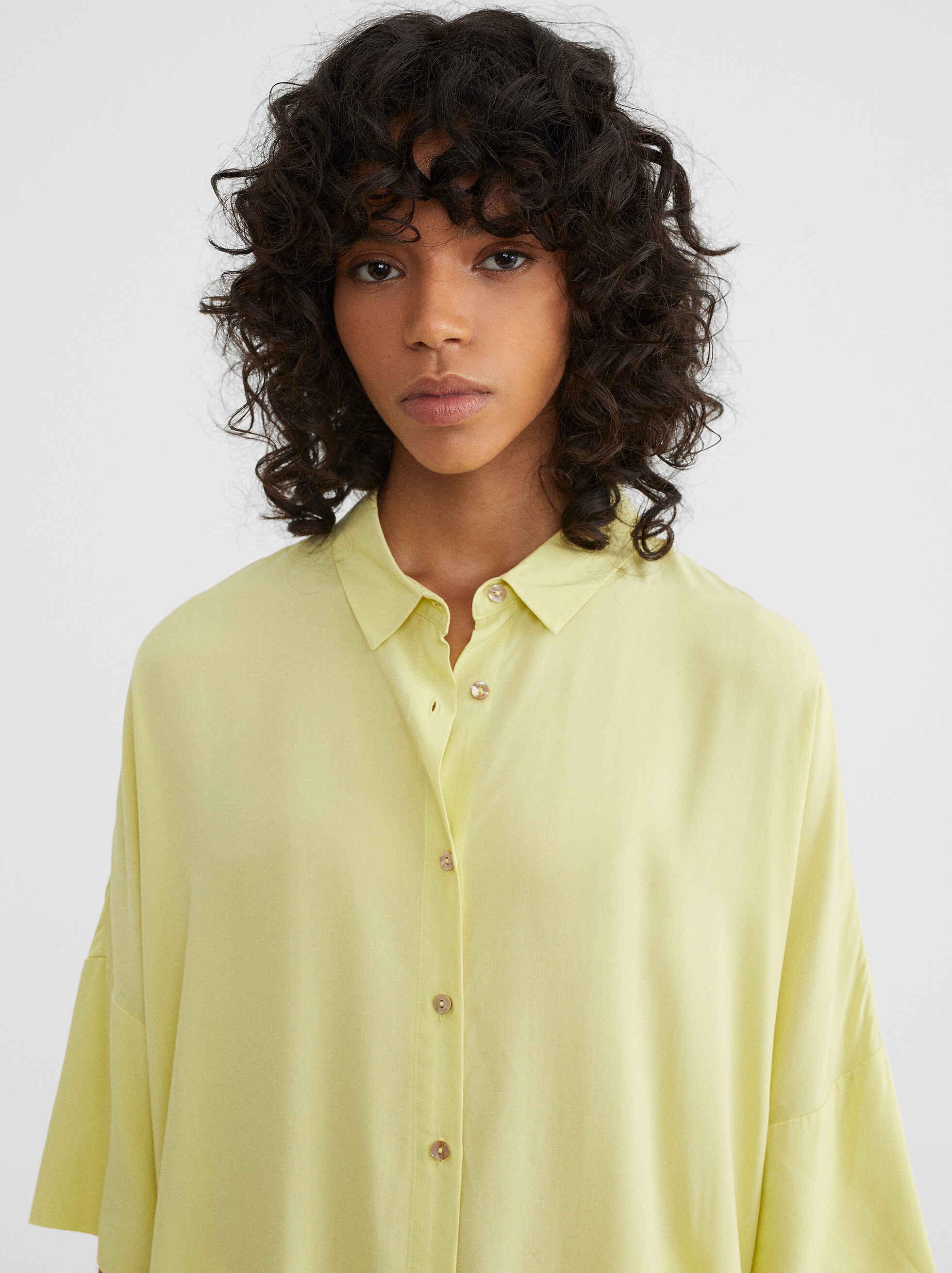 Oversize Shirt, Yellow, hi-res