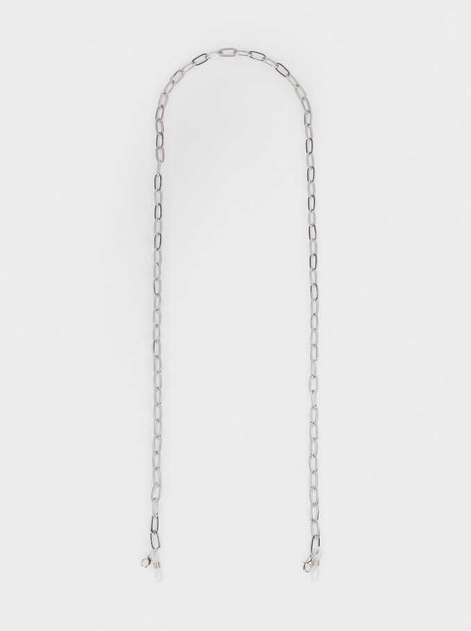 Chain For Glasses Or Mask, Silver, hi-res