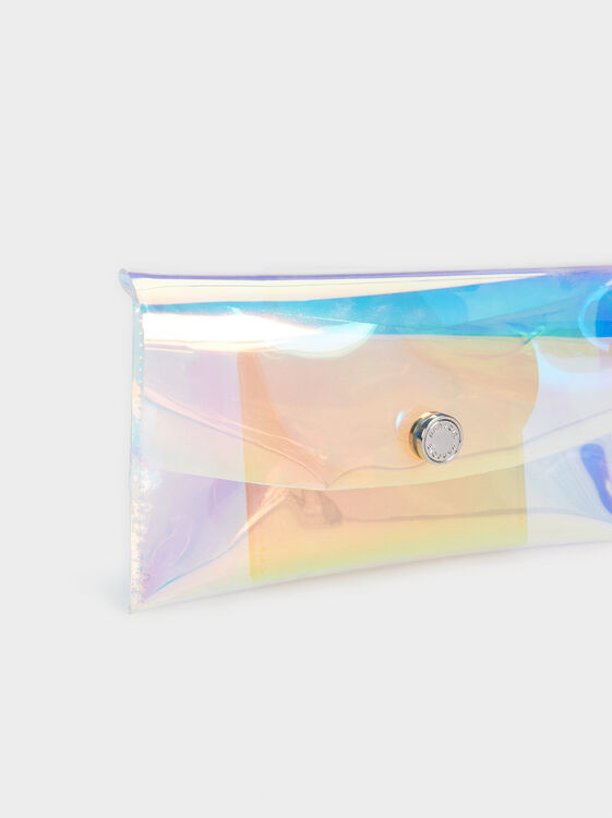 Vinyl Toiletry Bag, Beige, hi-res