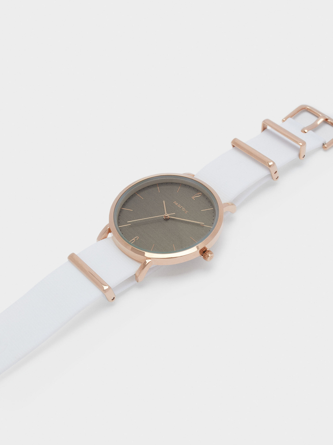 Watch With Interchangeable Straps, White, hi-res