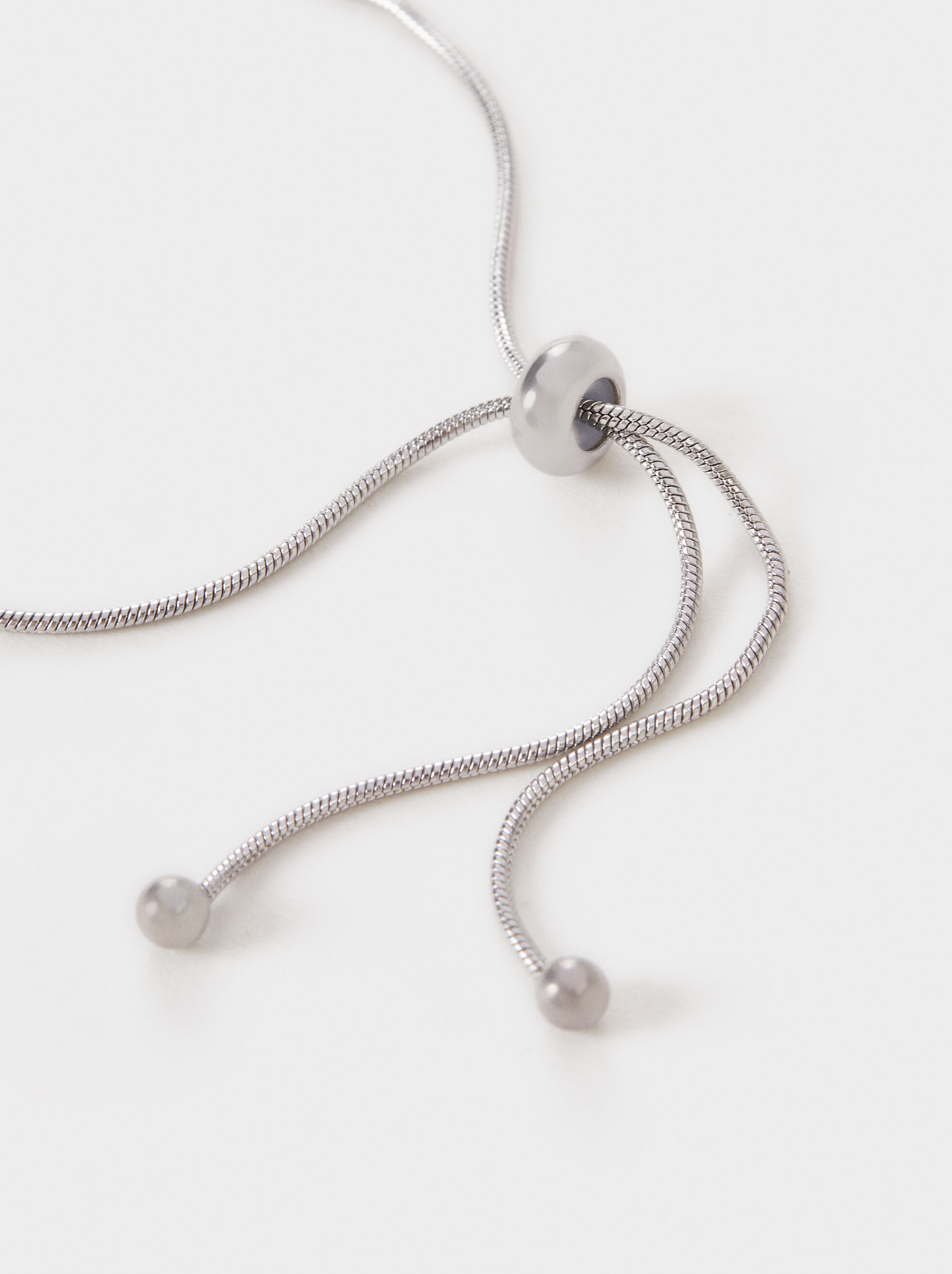 Adjustable Steel Bracelet With Shamrock, Silver, hi-res
