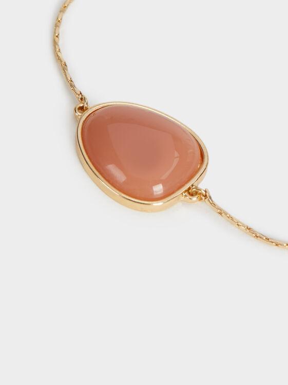 Land Adjustable Bracelet With Stone, Brick Red, hi-res
