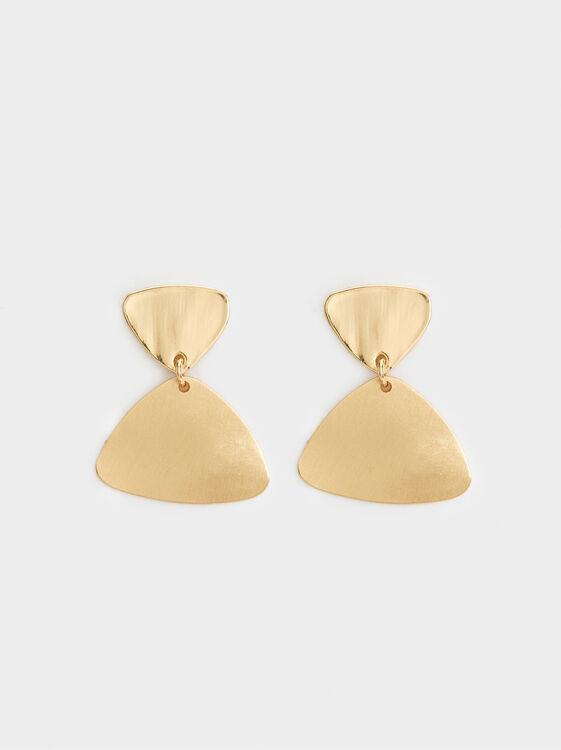 Basic Medium Earrings, Golden, hi-res