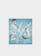 Zebra Print Square Scarf, Multicolor, hi-res