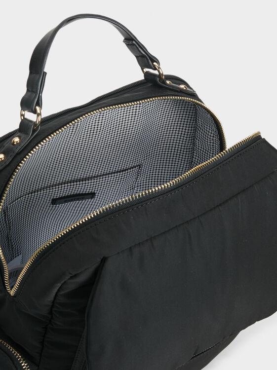 Nylon Backpack, Black, hi-res