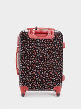We Are Love Print Trolley Suitcase, Red, hi-res