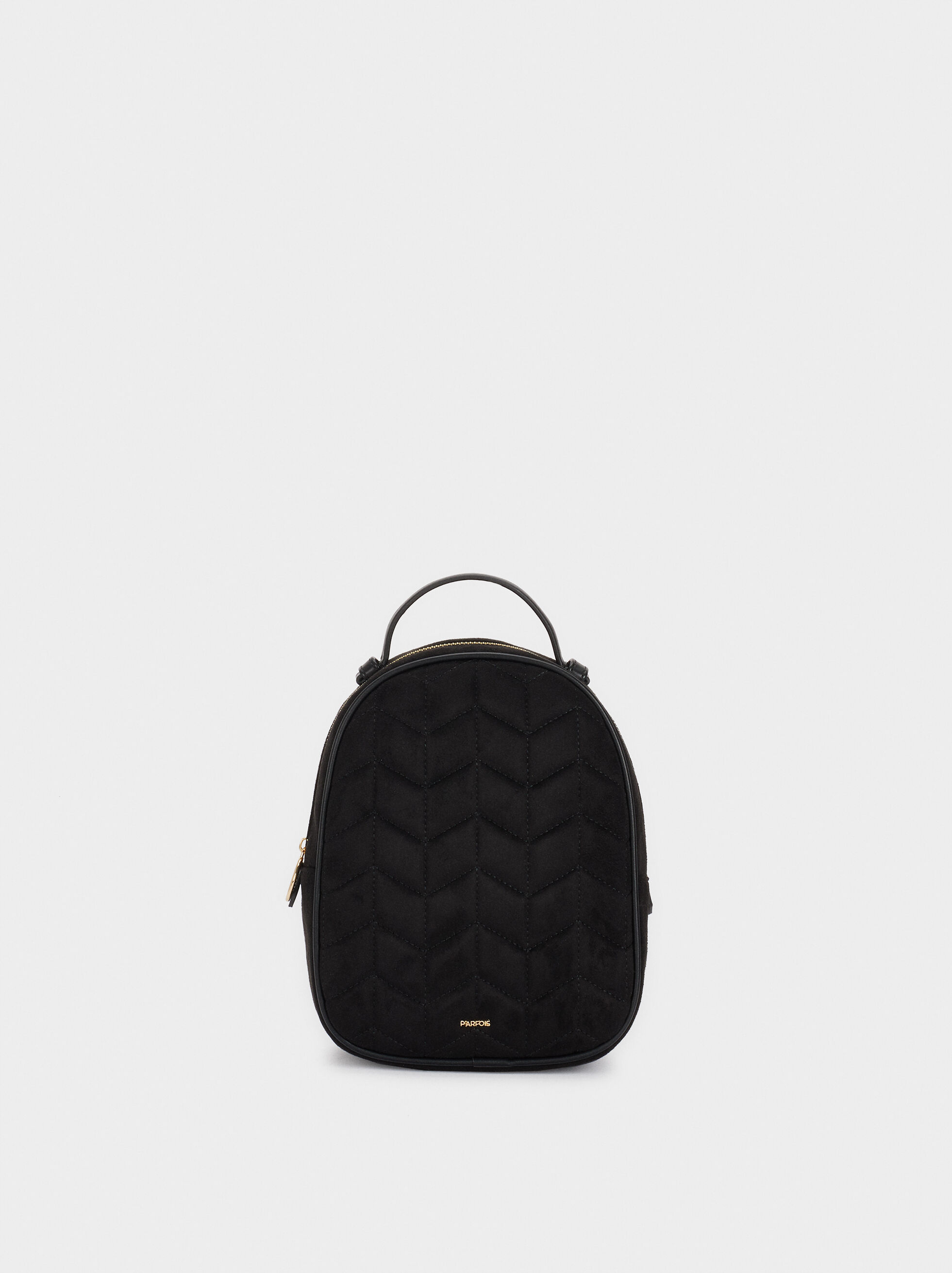 Textured Suede Backpack, , hi-res