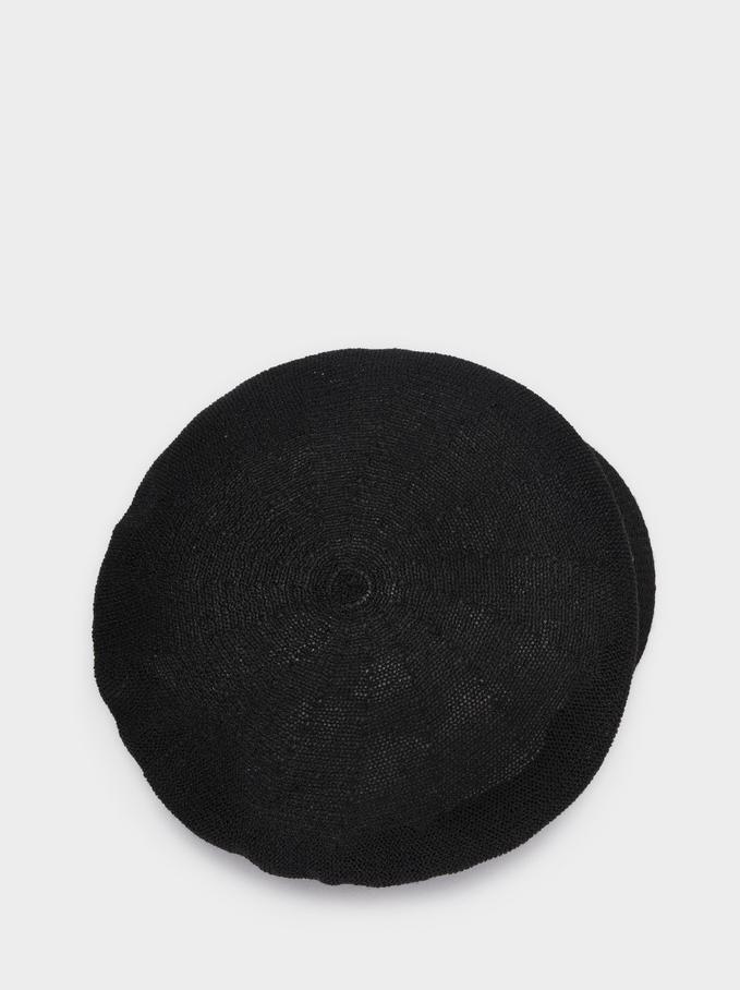 Knit Cap, Black, hi-res
