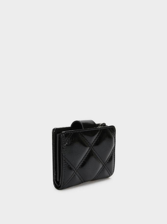Detachable Compact Purse, Black, hi-res