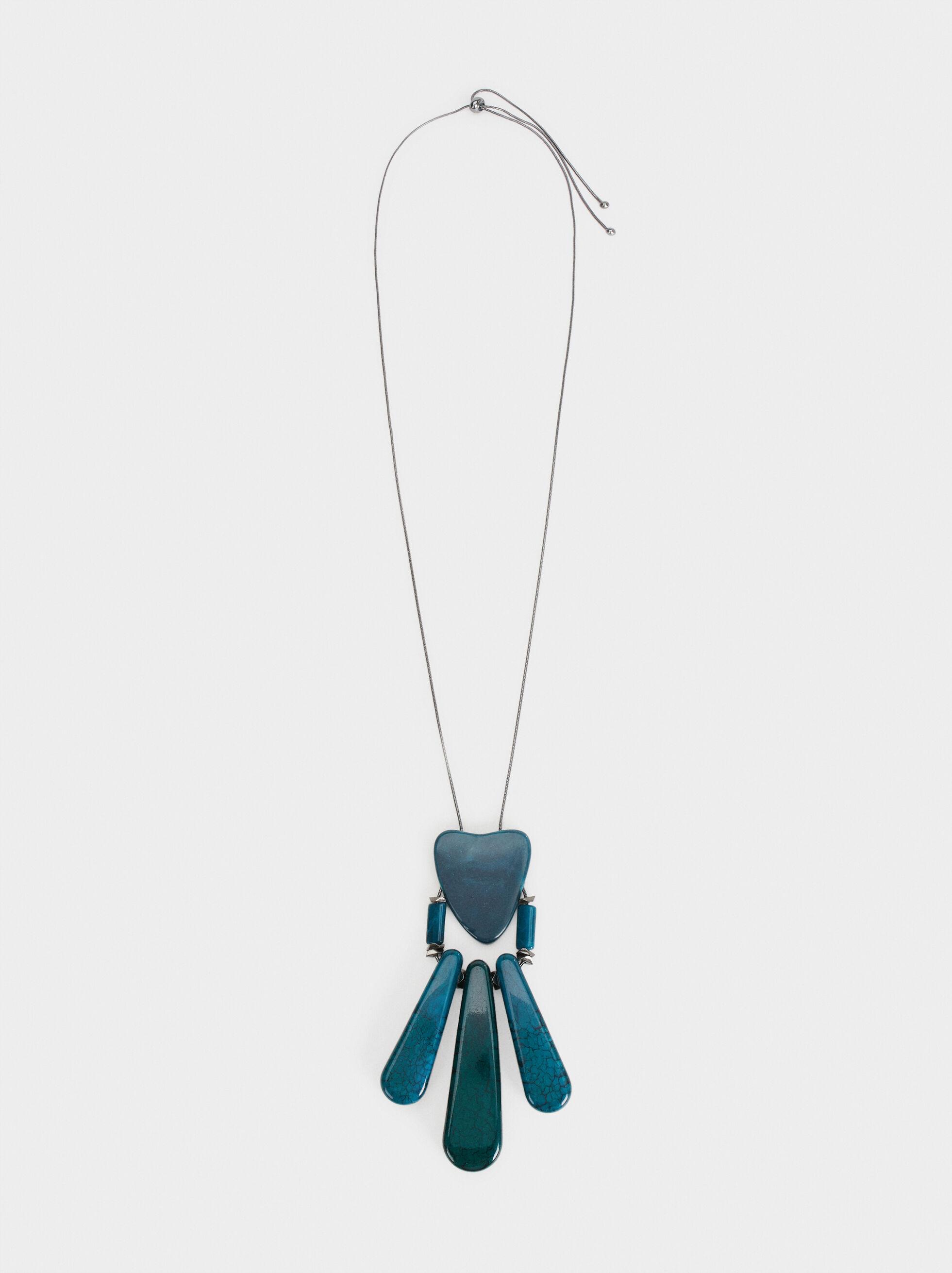 Botanic Party Long Necklace, Multicolor, hi-res