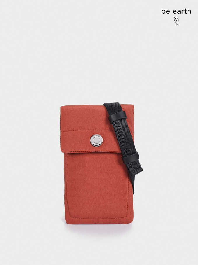 Nylon Mobile Phone Case Made From Recycled Materials, Bordeaux, hi-res