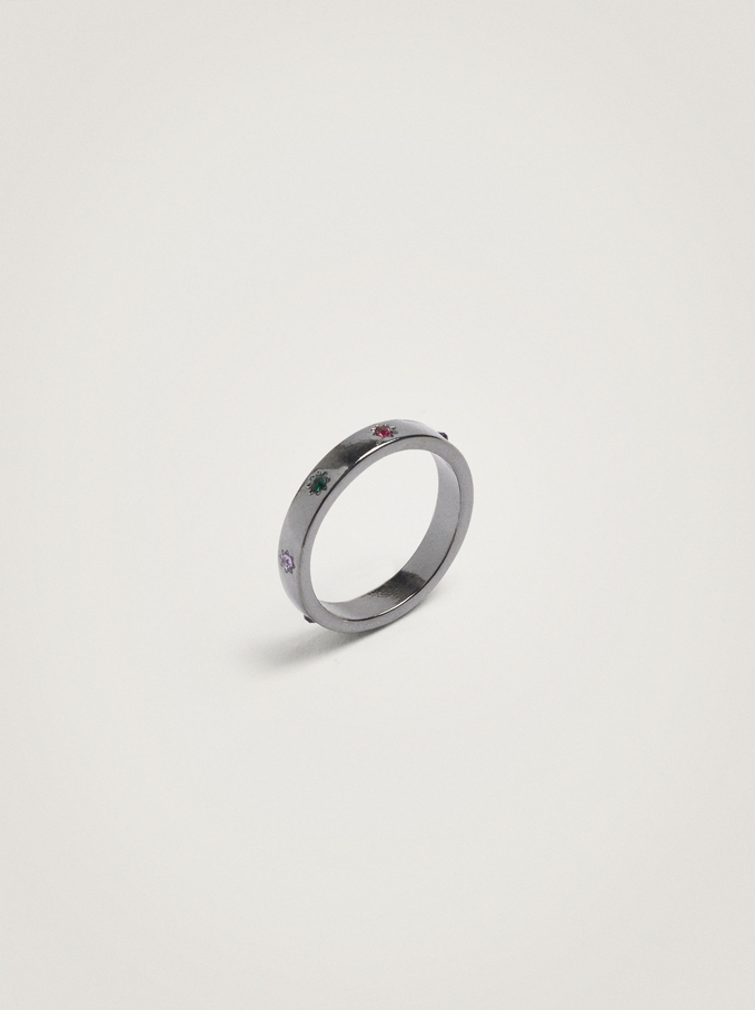 Ring With Crystals, Multicolor, hi-res
