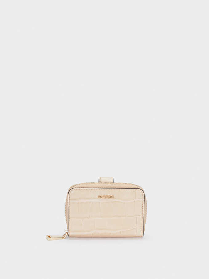 Purse With Card Holder, Beige, hi-res