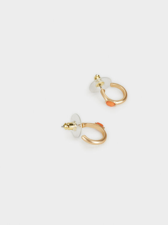 Zorba Small Hoop Earrings, Multicolor, hi-res