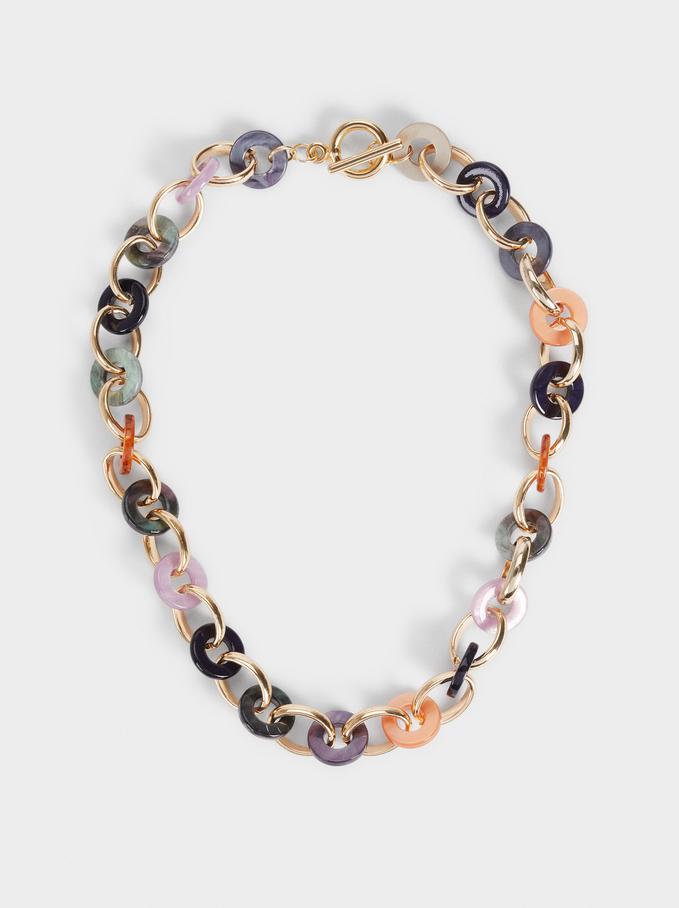 Short Link Necklace, Multicolor, hi-res