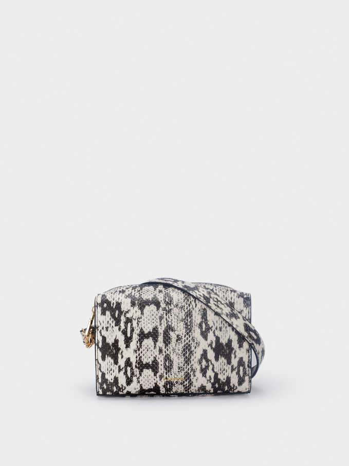 Animal Print Crossbody Bag, Ecru, hi-res