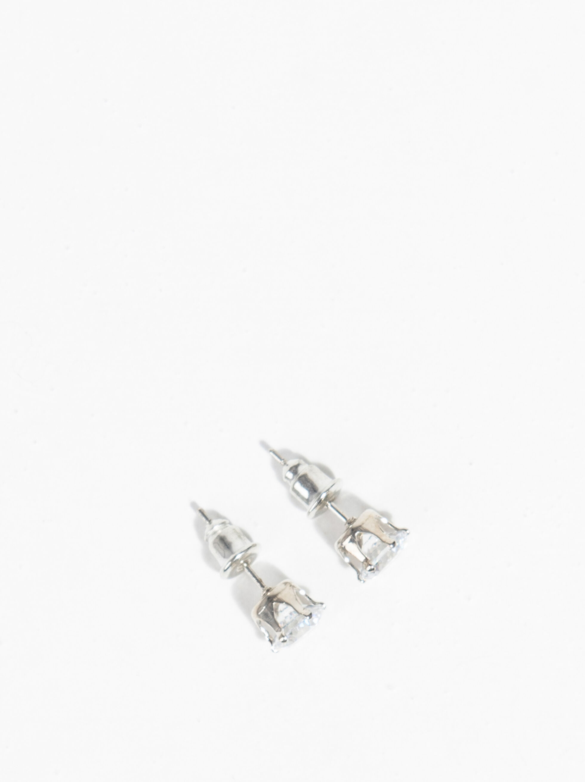 Basic Earrings , Silver, hi-res