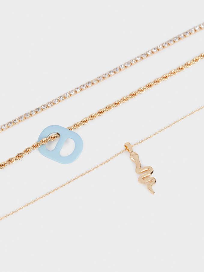Conjunto De Collares Combinados Con Serpiente, Multicor, hi-res