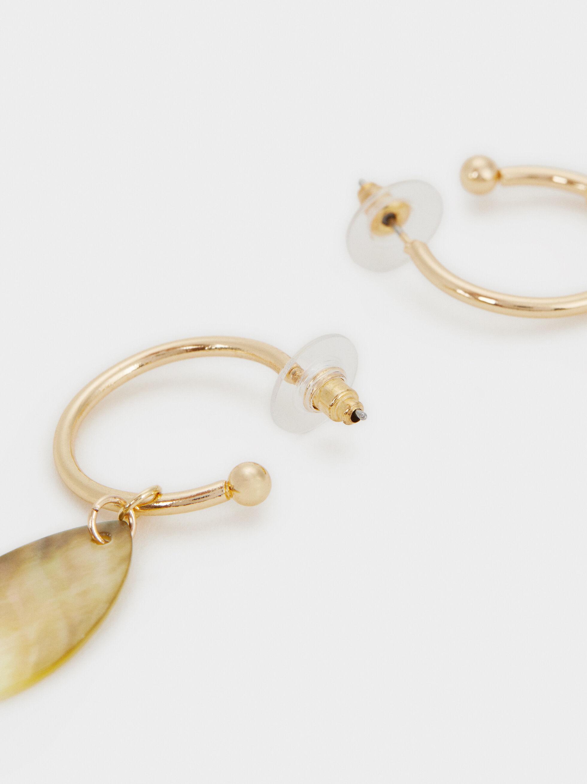 Blog Medium Hoop Earrings, Multicolor, hi-res