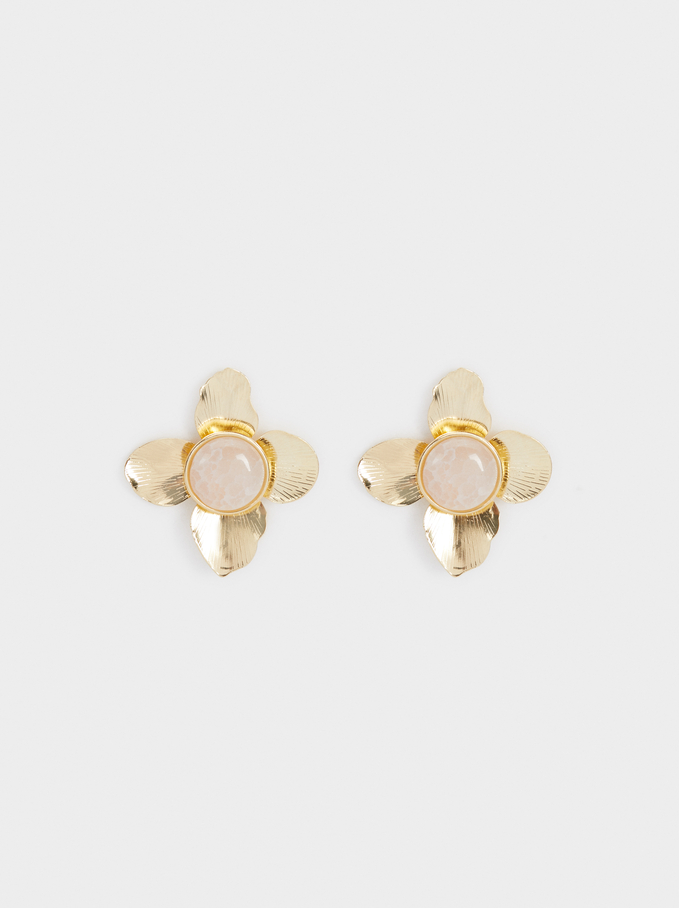 Exclusive Collection Flower Studs, Pink, hi-res