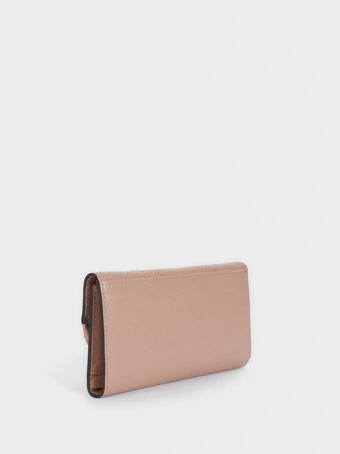 Quilted Wallet, Pink, hi-res