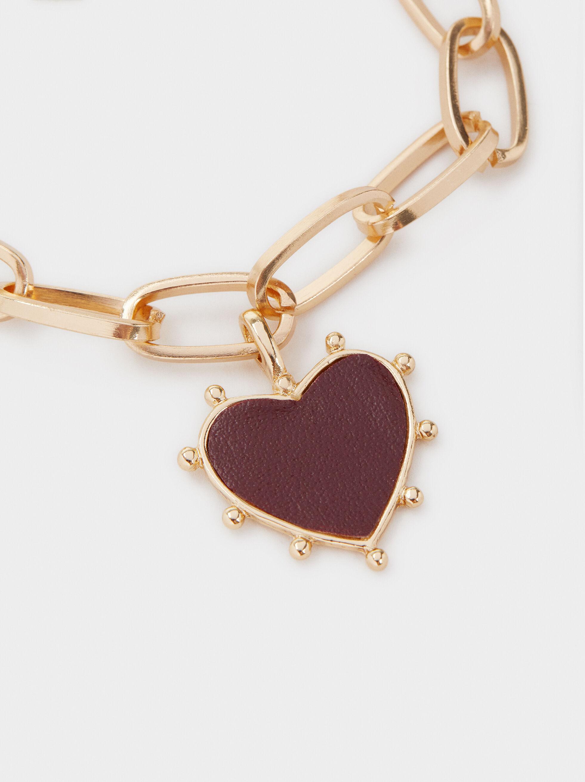 Chains And Charms Bracelet, Bordeaux, hi-res