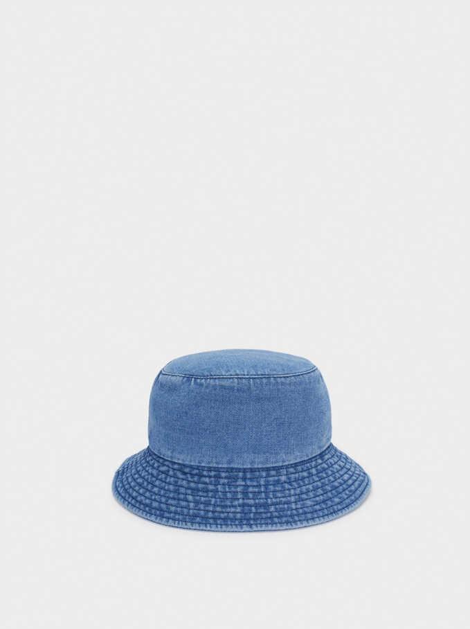 Cotton Bucket Hat, Blue, hi-res