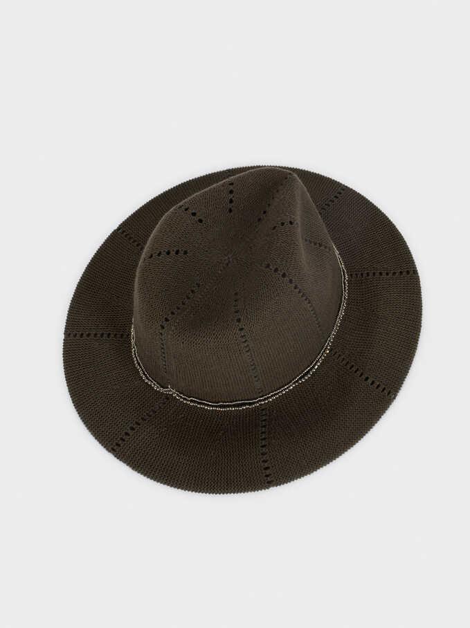 Knit Hat, Khaki, hi-res