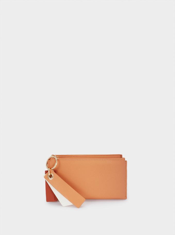 Plain Purse With Zip Fastening, Orange, hi-res