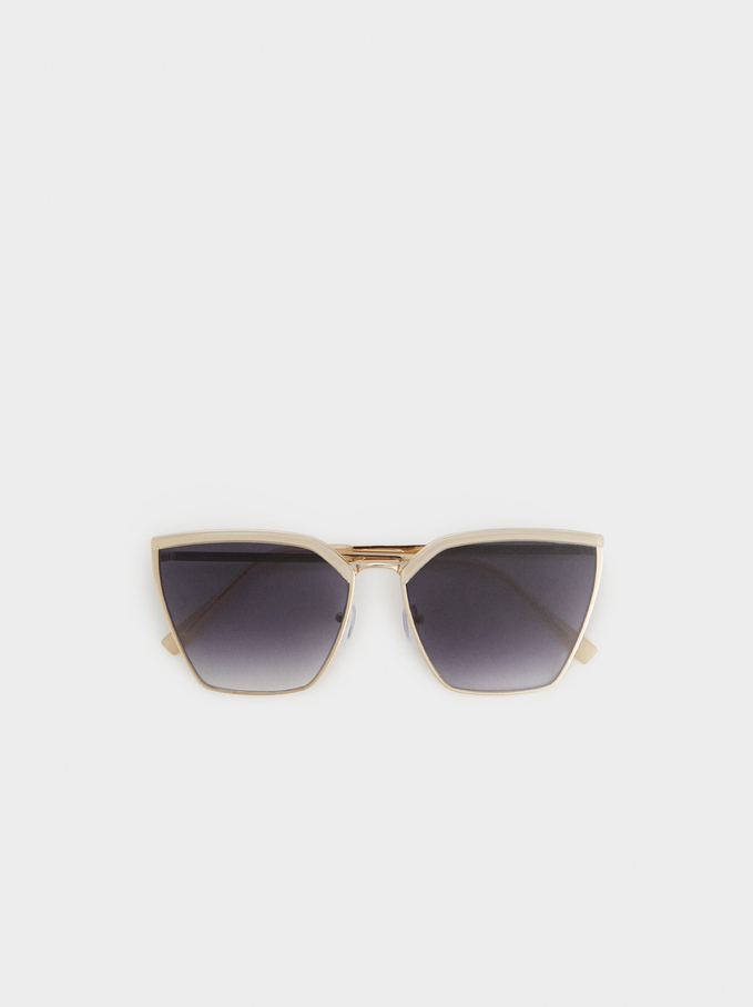 Metal Sunglasses, Pink, hi-res
