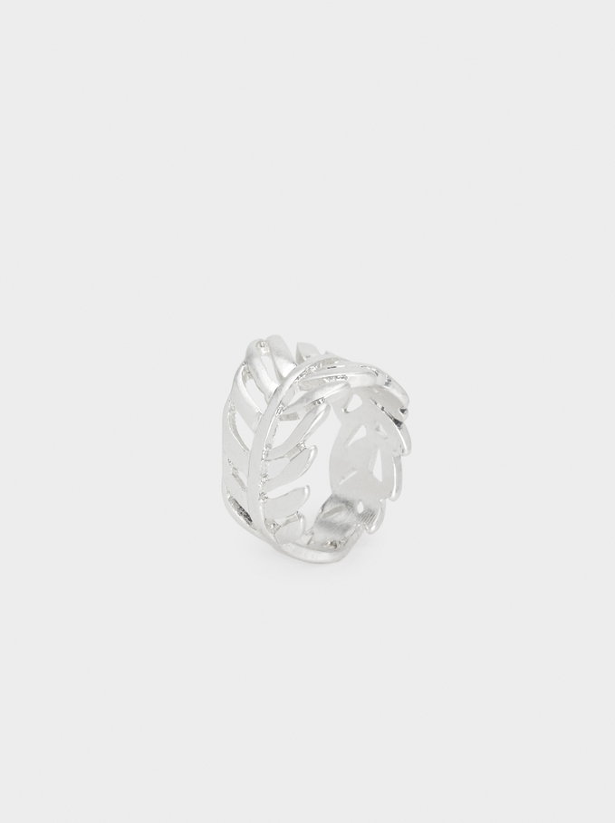 Leaf Ring, Silver, hi-res