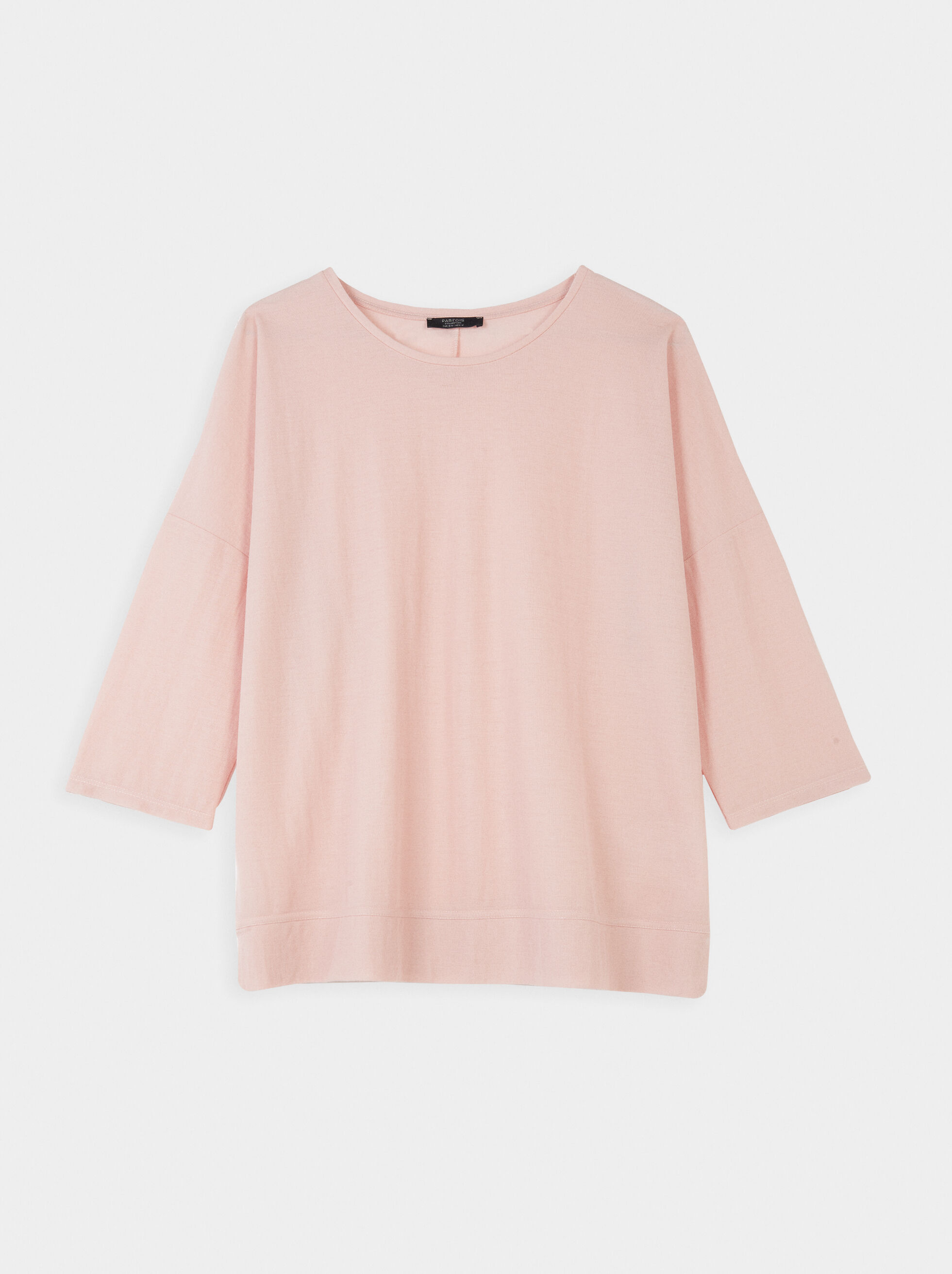 Plain Round Neck T-Shirt, , hi-res