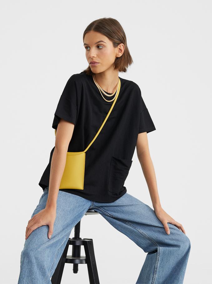 Basic Round-Neck T-Shirt, Black, hi-res